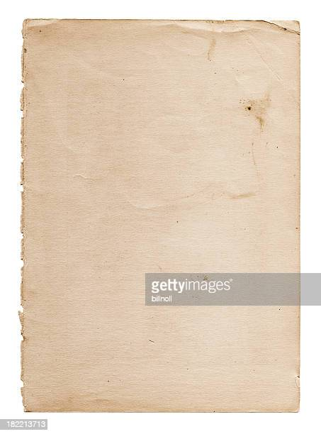 old and worn paper - category:pages stock pictures, royalty-free photos & images