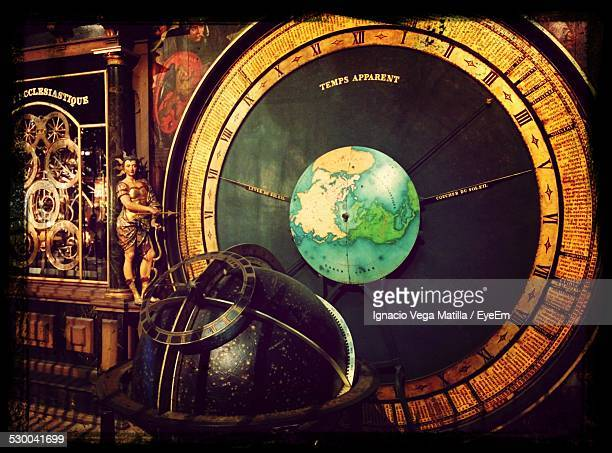 Old Antique Astronomical Clock