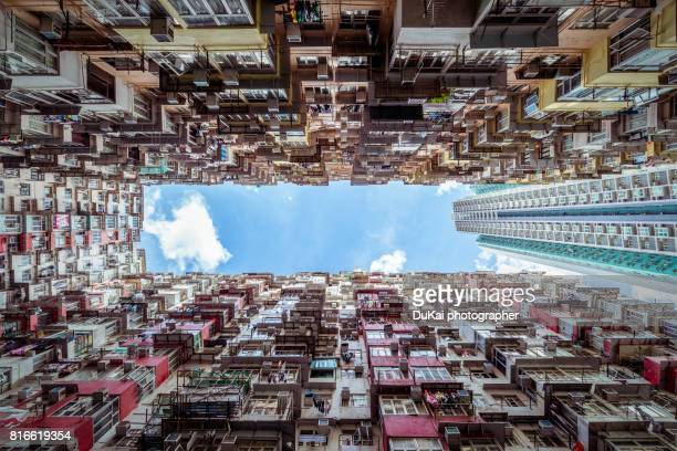 old apartment buildings in Hong Kong, China