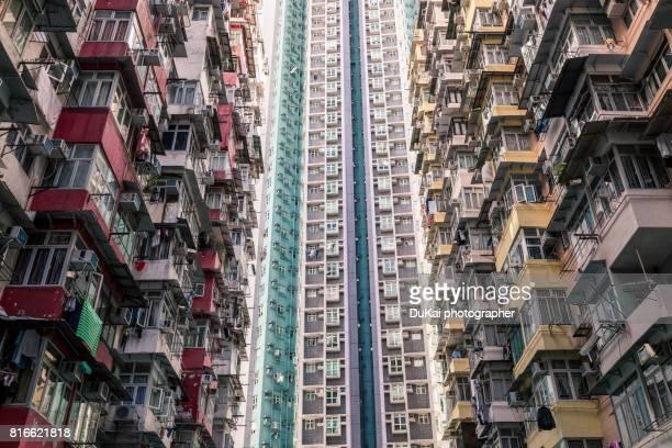 old apartment buildings in Hong Kong, China