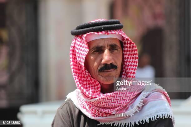 Old arabic man in in the streets of Amma, Jordan