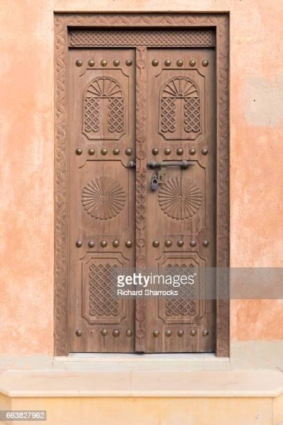 Old arabic wooden door