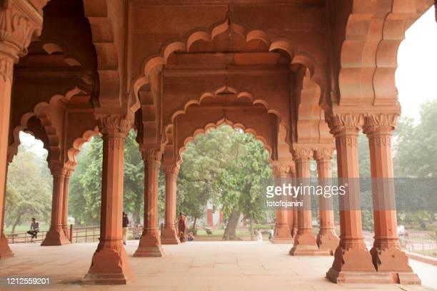 old architecture inside red fort in delhi - fotofojanini foto e immagini stock