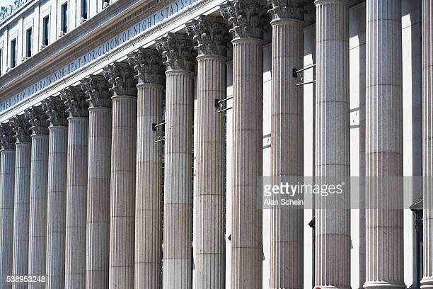 Old architecture, new york city, columns