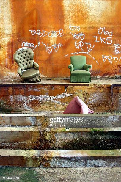 Old Armchairs in a Abandoned Factory