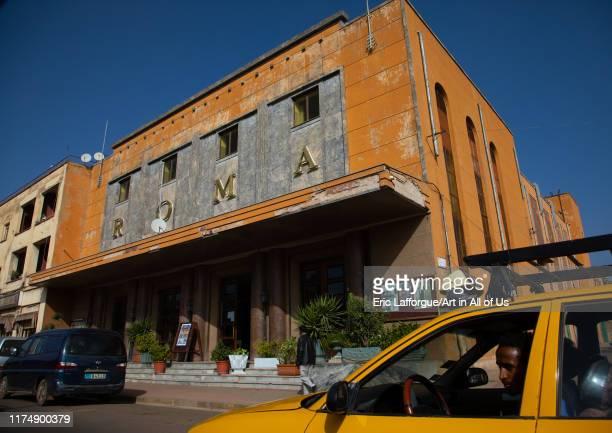 Old art deco roma cinema from the italian times, Central region, Asmara, Eritrea on August 22, 2019 in Asmara, Eritrea.