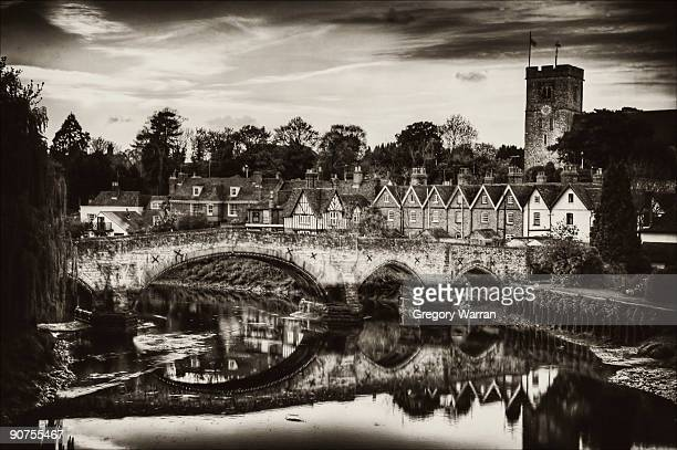 old aylesford - river medway stock photos and pictures