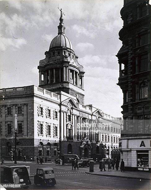 Old Bailey Central Criminal Court London c1941 View of the Central Criminal Court Old Bailey in the aftermath of an air raid The blind figure of...