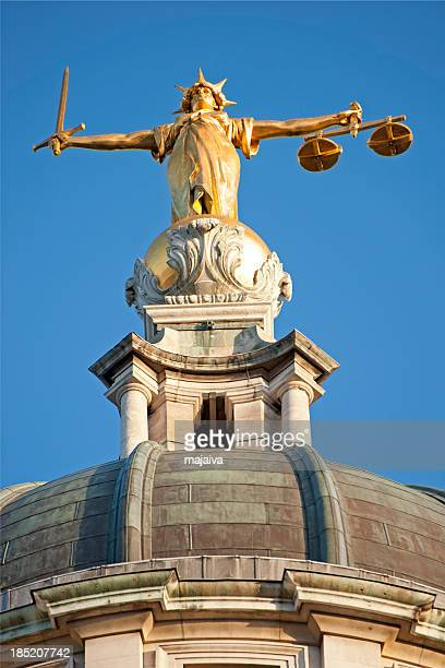 old bailey - lady justice stock pictures, royalty-free photos & images