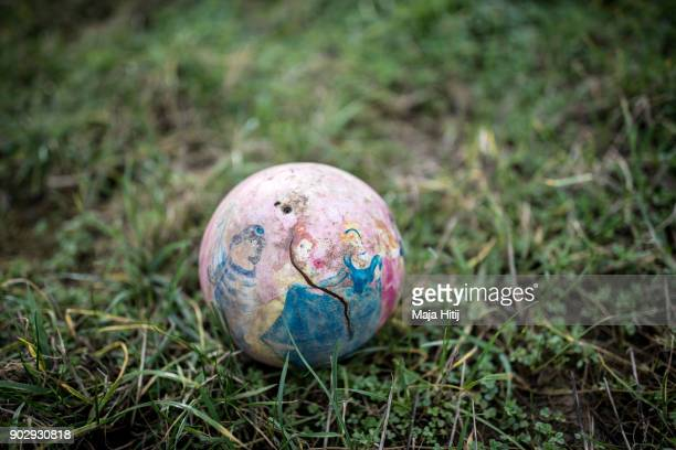 Old ball is seen on the ground on January 9 2018 in Immerath Germany The village of Immerath will be completely razed in order to make way for the...