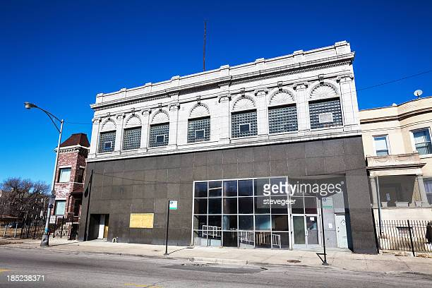 Old Bank Building in East Garfield Park, Chicago