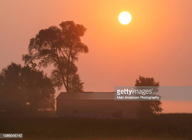 old barn dawn sunrise - great plains stock pictures, royalty-free photos & images