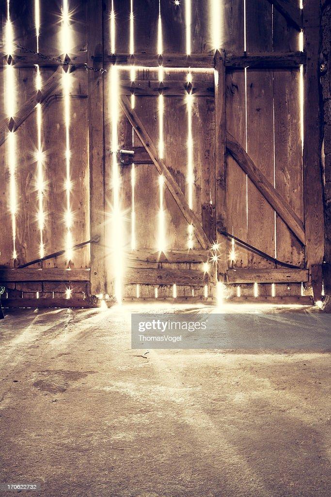 Old barn door - Sunlight Wood : Stock Photo