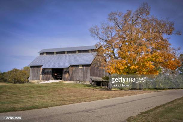 old barns and buildings in the us - indiana stock pictures, royalty-free photos & images