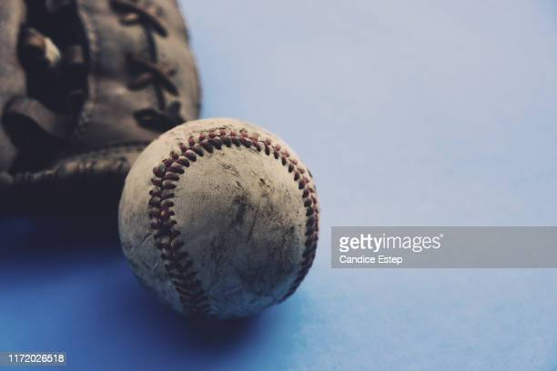 grunge baseball image with old used