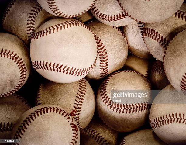 旧野球のボール
