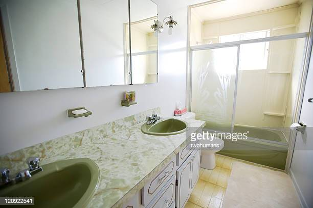 old bathroom - bathroom stock photos and pictures