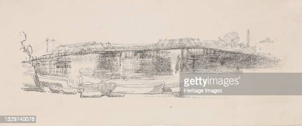 Old Battersea Bridge, No. 2, 1878-1879. Artist James Abbott McNeill Whistler.
