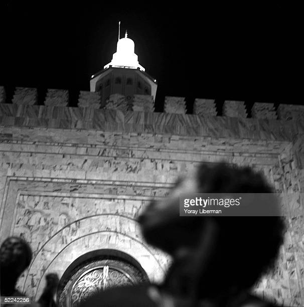 Old Baye Fall near the mosque of Touba during the Magal De Touba April 23 2003 in Touba Senegal The Mouride Baye Fall community in Senegal celebrates...