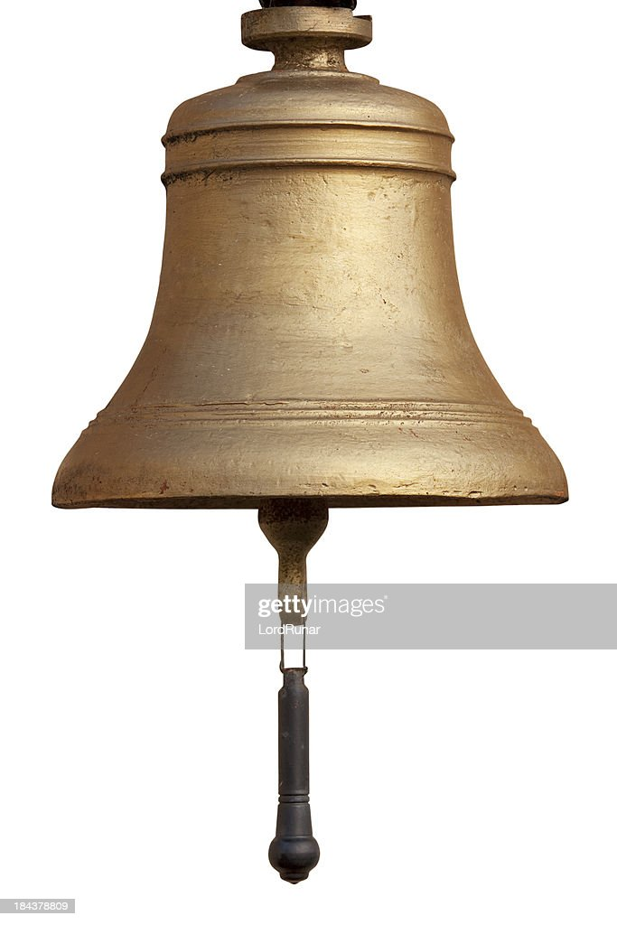 Old bell isolated : Stock Photo