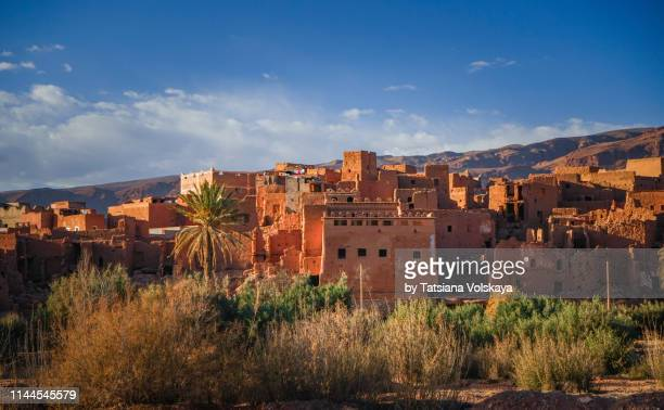 old berber city tinghir in high atlas mountains, morocco, africa - ancient history stock pictures, royalty-free photos & images