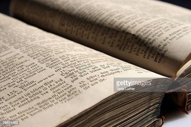 Old bible book, close-up