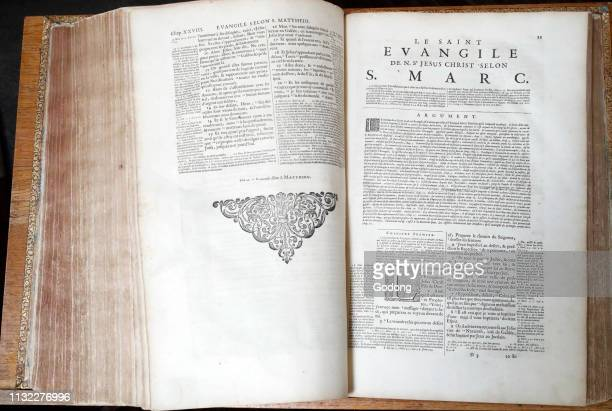 Old bible in French, 1669. New Testament. Gospel. Mark.