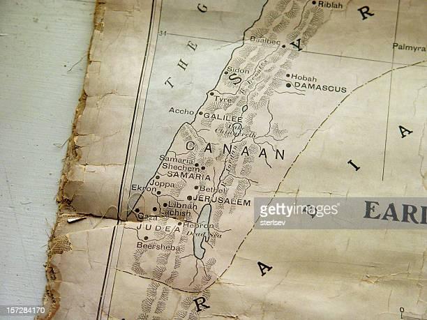 old biblical map - israeli men stockfoto's en -beelden