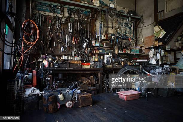 Old bicycle repair factry
