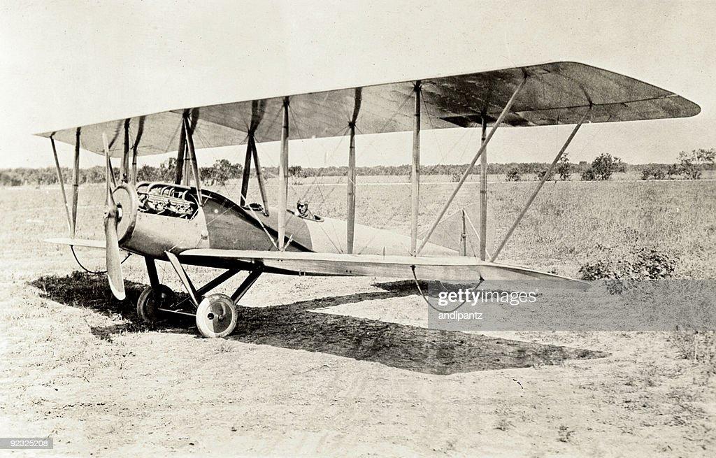 Old Bi-Flugzeug : Stock-Foto