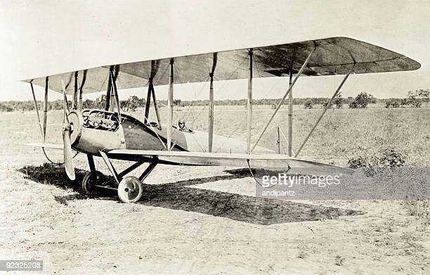 old bi-plane - history stock pictures, royalty-free photos & images