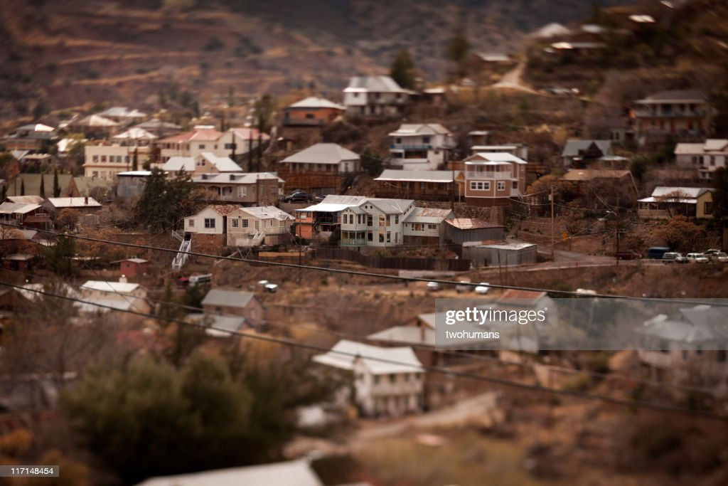 Old Bisbee city : Stock Photo