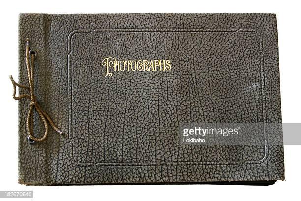 Old Black Leather Photo Album
