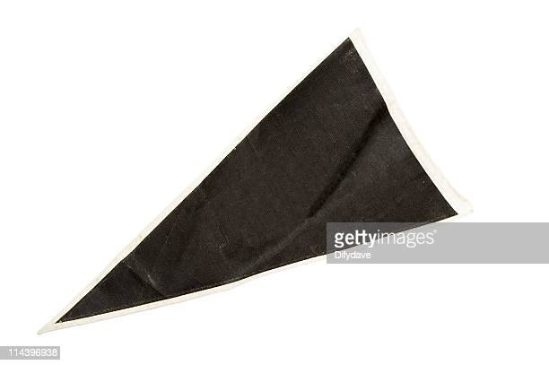 old black pennant - pennant stock pictures, royalty-free photos & images