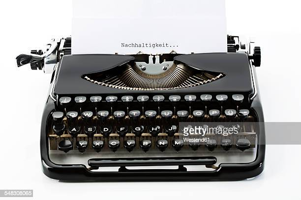 Old black typewriter