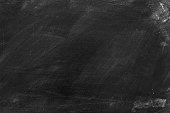 Old blank dirty chalkboard .