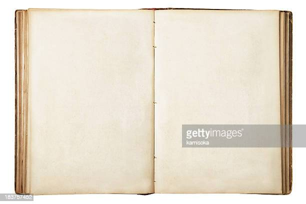 old blank open book - category:pages stock pictures, royalty-free photos & images