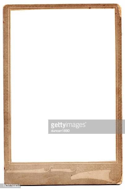 Old blank photo frame