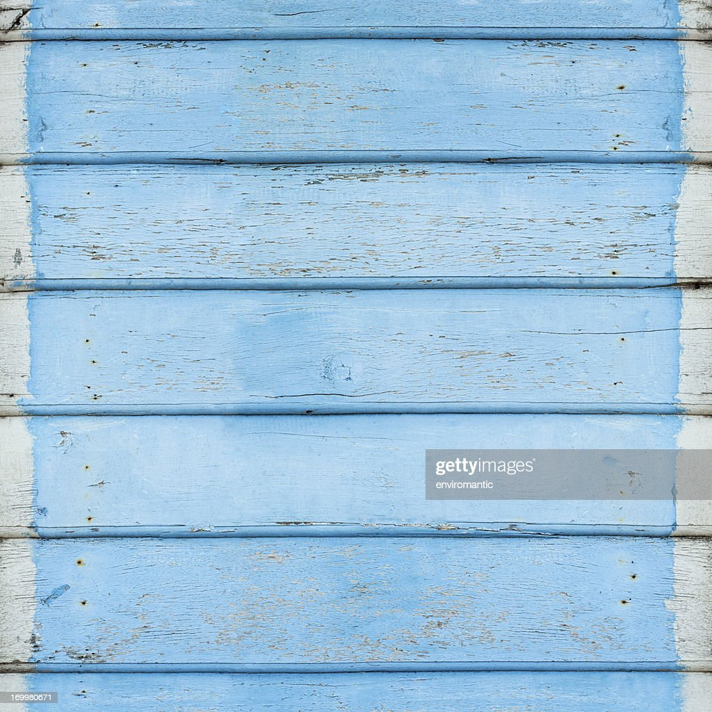 Old blue wooden board background. : Stock Photo