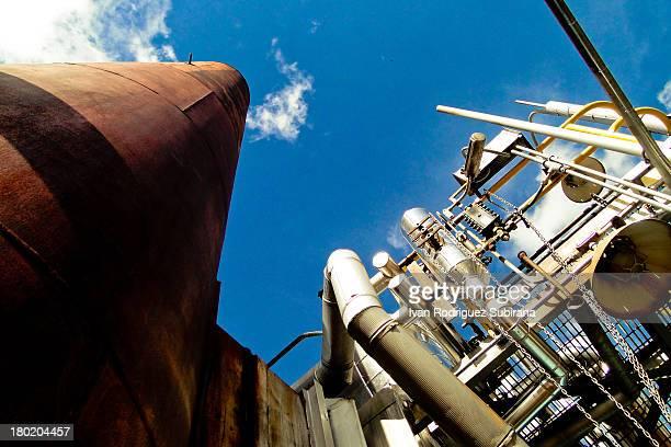 Old Boiler of the Guillermo Elder Bell Refinery in Santa Cruz de la Sierra, Bolivia
