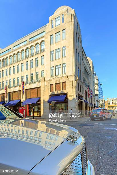 old bond street in london's mayfair area. - area designer label stock pictures, royalty-free photos & images