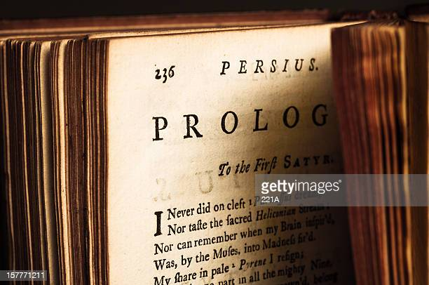 old book: juvenalis and persius satyrs (1735) - 18th century style stock pictures, royalty-free photos & images