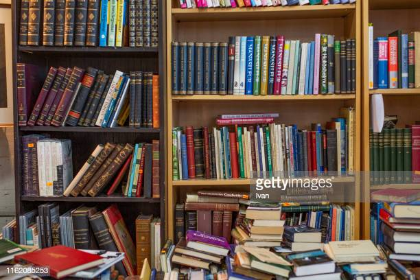 old book store - textbook stock pictures, royalty-free photos & images