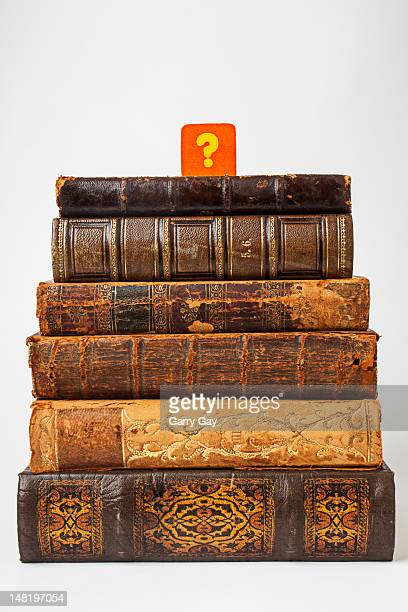 Old books and a question mark