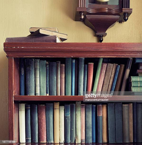 Old books and bookcase
