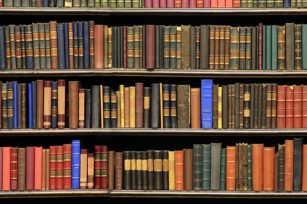 Old books on a library