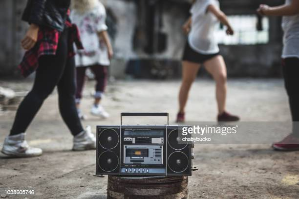 old boombox - hip hop music stock pictures, royalty-free photos & images