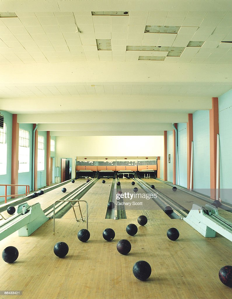 Old Bowling Alley With Rogue Bowling Balls Stock Photo Getty Images