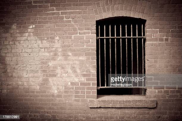 old brick wall - prison building stock pictures, royalty-free photos & images
