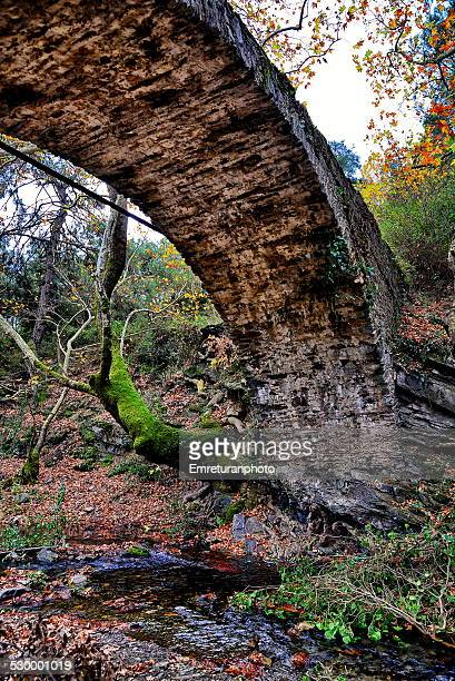 old bridge across a stream of water - emreturanphoto stock pictures, royalty-free photos & images